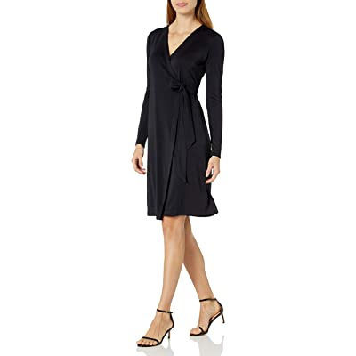 Brand - Lark & Ro Women's Signature Long Sleeve Wrap Dress: Clothing
