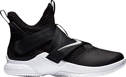 huge discount 433fe 775ba Nike Zoom Lebron Soldier XII TB Basketball Shoes (BlackSilver, M5W65)