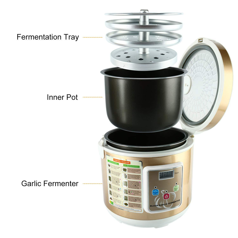 Homend 5L Black Garlic Automatic Fermenter, Black Garlic Ferment Box, Garlic Maker Recycle, Intelligent Fermentation Machine, Health Food Maker, Home/Kitchen Utensil by Homend (Image #2)