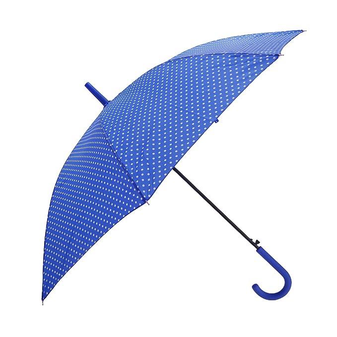 Severyn Paraguas de paseo con estampado de lunares y apertura automática para mujer (Talla Única
