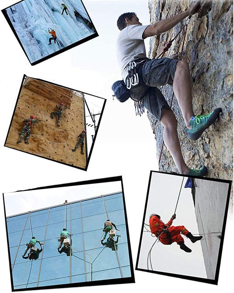 professionelles Bergsteigen Durchmesser: 10 mm,Blau,15meters Notfall-Rettungsseil Felsseil GQ Kletterseil Sicherheitsseil,10m-30m Hilfs-Kletterseil