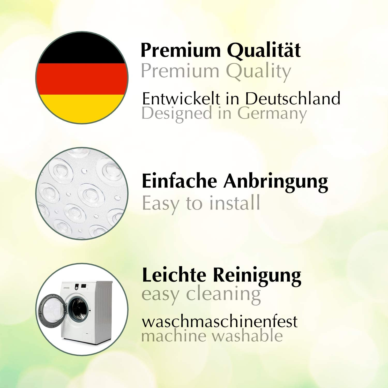Antirutschmatte f/ür die Duschwanne mit extra starkem Halt grau Hochwertige Duscheinlage aus geruchsfreiem PVC. BPA-frei Sarenius Duschmatte 53 cm x 54 cm