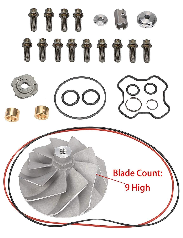 Compressor Wheel /& Rebuild Kit Turbo Compressor Wheel and Turbo Rebuild Kit for Ford 7.3L Powerstroke Turbochargers TP38 GTP38