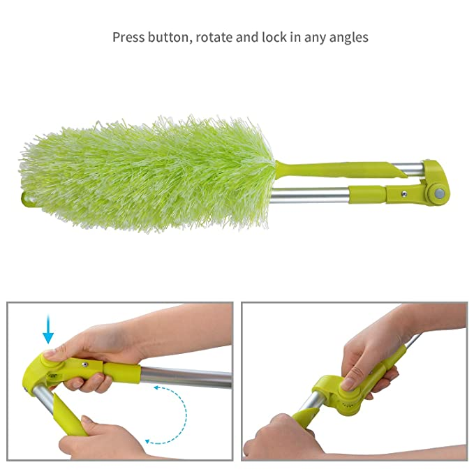 ... With Extension Pole Dust Cleaning Blinds Bendable Washable - Feather Print Giant Jackets Complete Extendable 24 With Use Toallas: Home Improvement