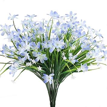 MIHOUNION Künstliche Blumen, 4 Pcs Unechte Blumen Seide Grüne ...