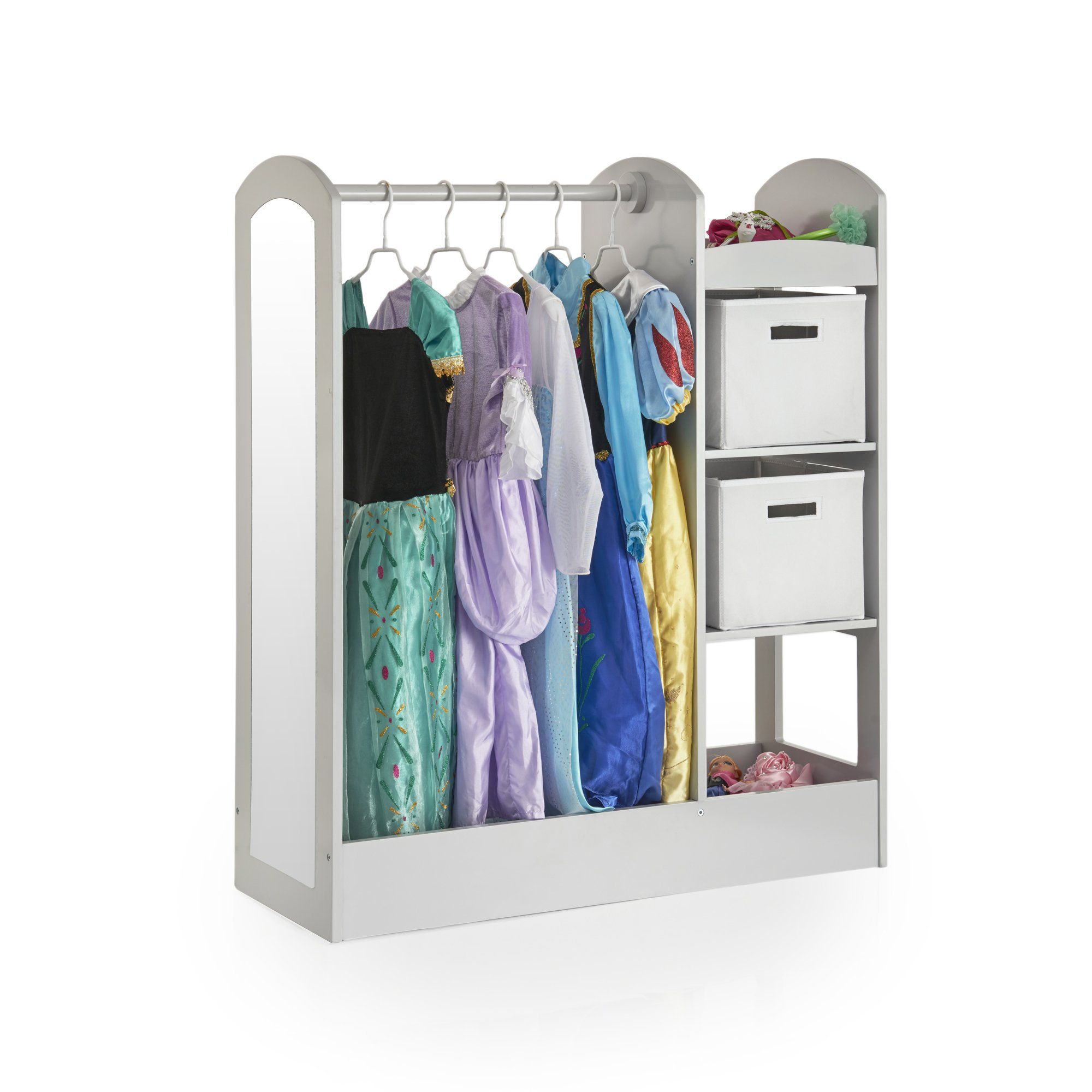 Guidecraft See and Store Dress Up Center Grey - Armoire, Dresser Kids' Furniture