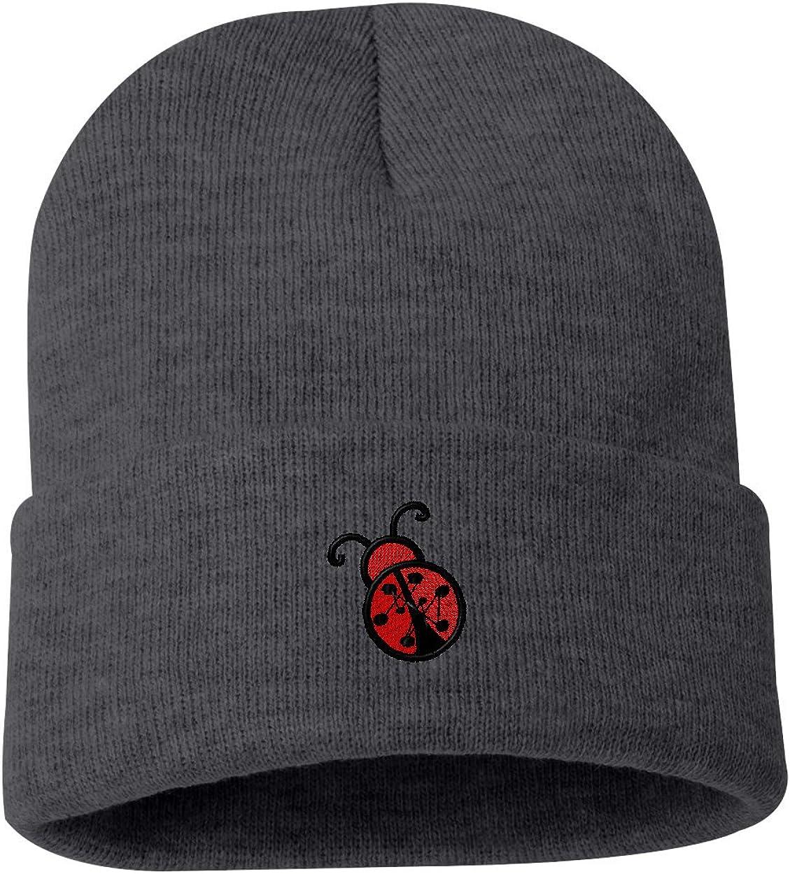 Ladybug/ Custom Personalized Embroidery Embroidered Beanie