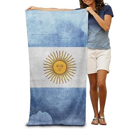 Toalla de microfibra toalla de playa, diseño de bandera de Argentina