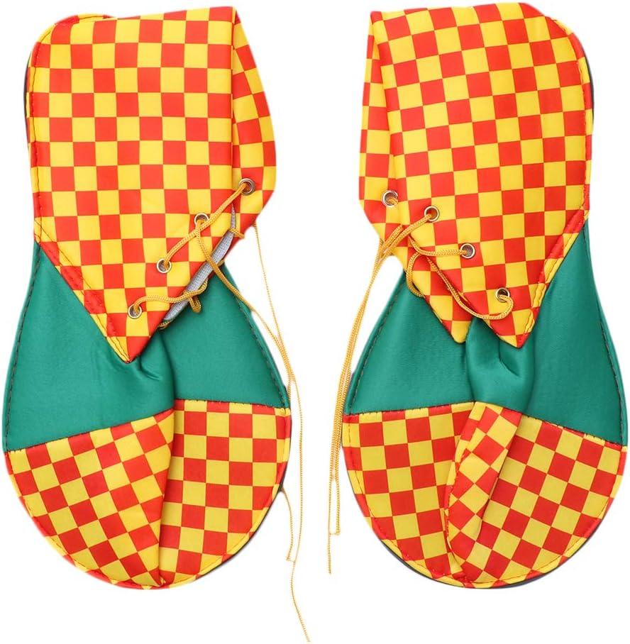 Amosfun Zapatos de Payaso Cubiertas Patrón de cuadrícula Zapatos ...