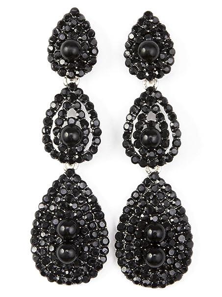 680a181ae Vijiv Gatsby Earrings Vintage 1920s Drop Chandelier Flapper Jewelry  Accessories Black One Size