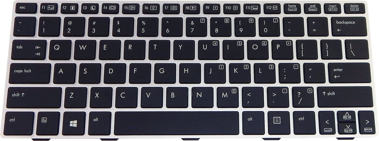 HP Revolve 810 G1/G2 Backlit US Keyboard 706960-001 716747-001
