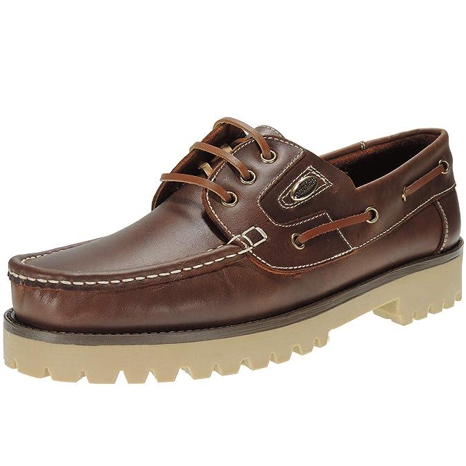 Elegance 802 Náutico Piel con Cordones y Piso Grueso de 3,5 Cm para Hombre: Amazon.es: Zapatos y complementos