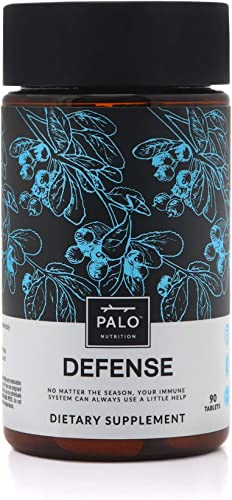 Defense Immune Support All Natural Supplement 90 ct Immune System Booster with Vitamin C, Zinc, and Botanicals Including Elderberry and Echinacea – Activate Your Health and Wellness 90 ct.