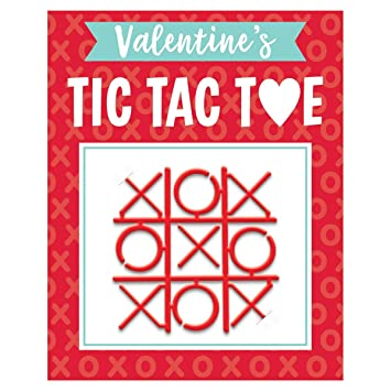 Amazon Com Tic Tac Toe Valentine Exchange Cards With Favors 12ct