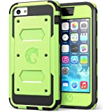 i-Blason Armorbox for Apple iPhone 5C Dual Layer Hybrid Protective Case with Built-in Screen Protector and Impact Resistant Bumpers (Green, iPhone 5C)