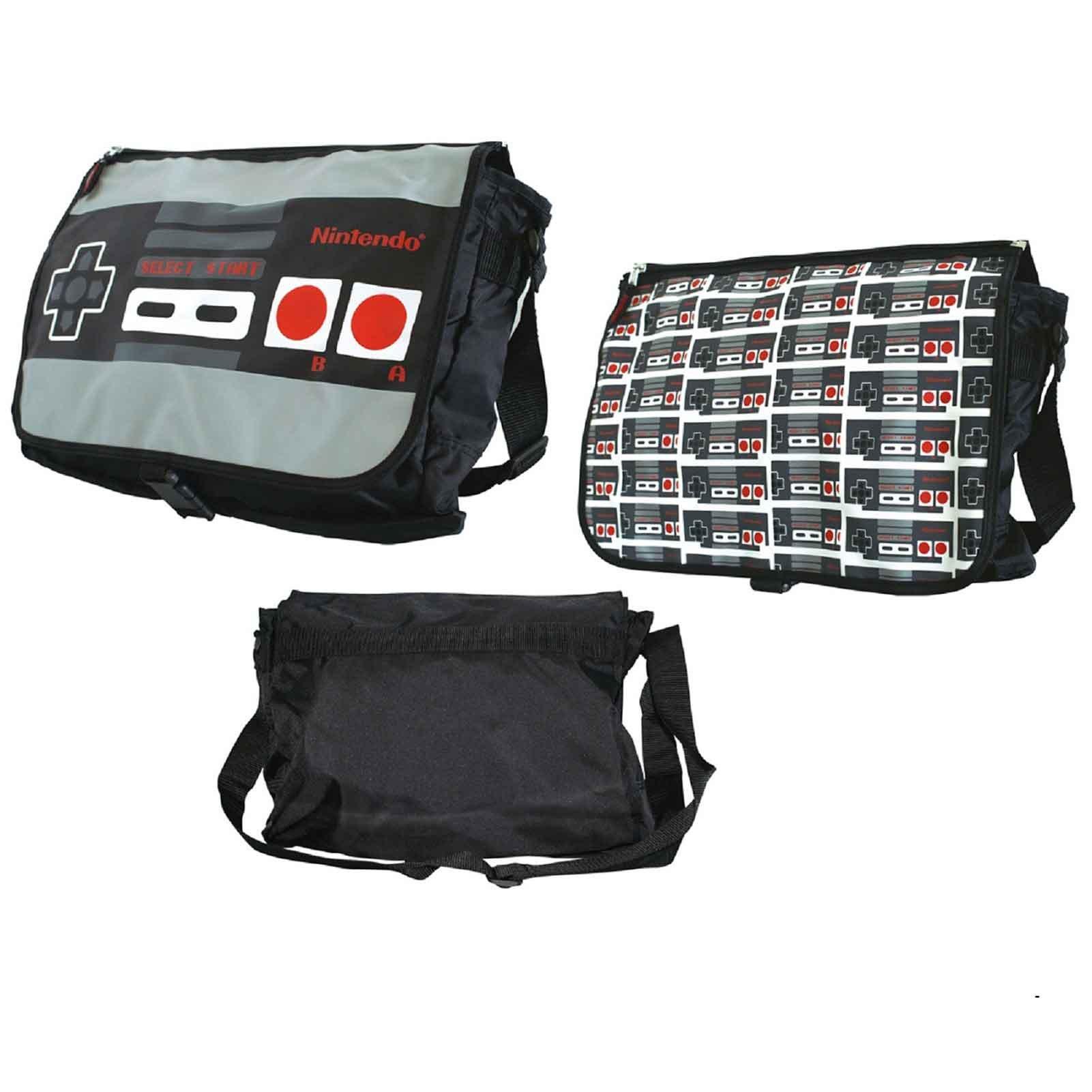 Nintendo Retro Controller Reversible Print Official Messenger Bag