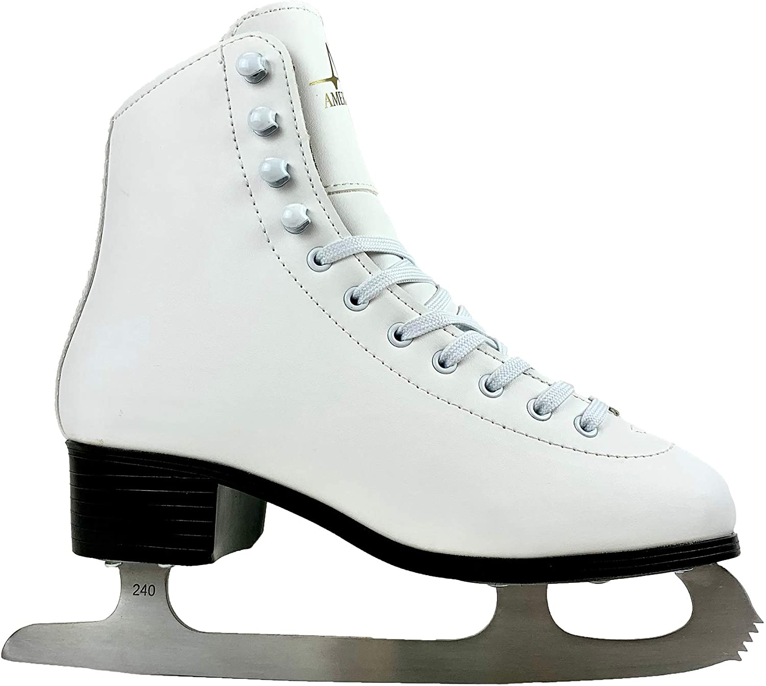 White American Athletic Shoe Womens Tricot Lined Ice Skates