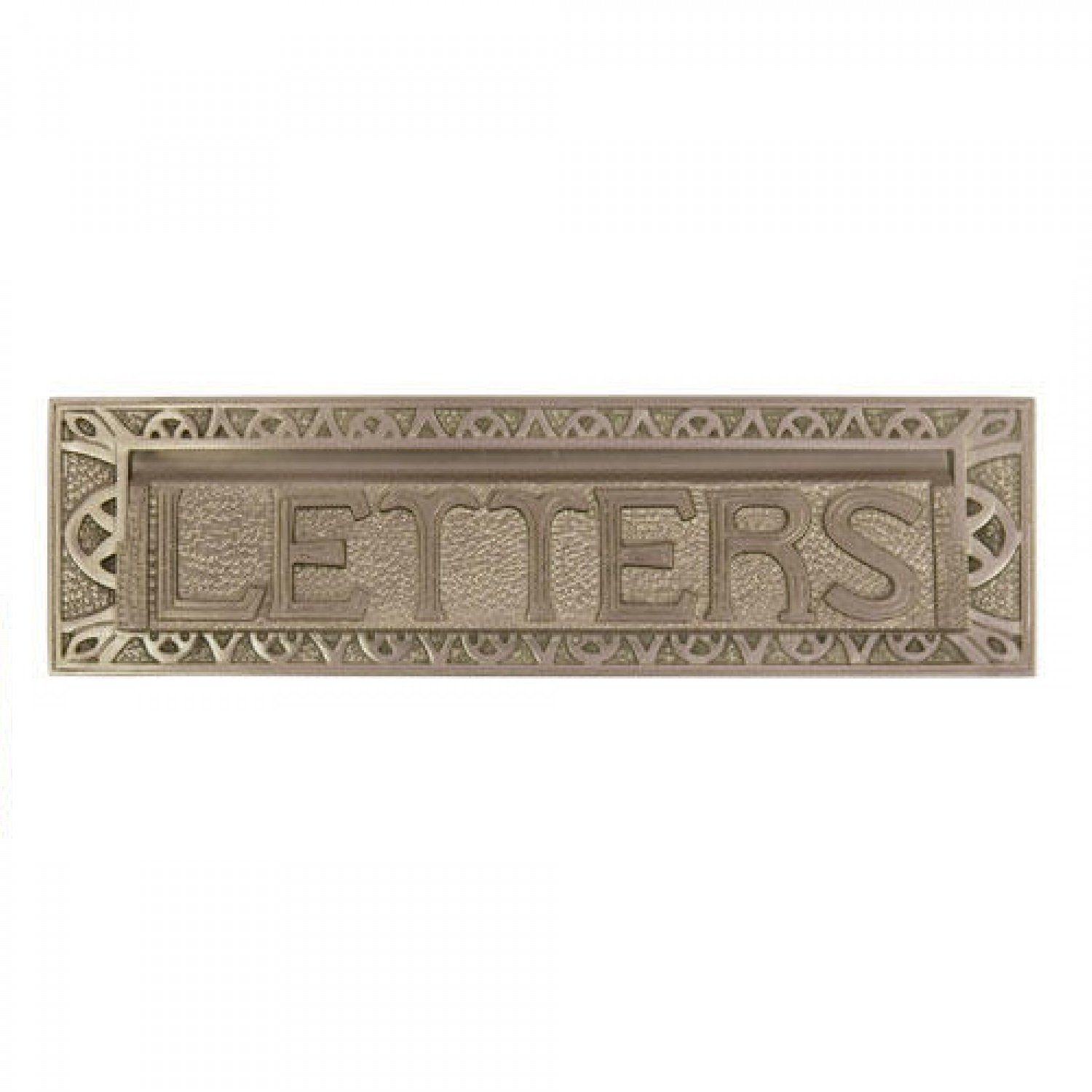 Naiture 10'' Heavy Duty''Letters'' Mail Slot in Brushed Nickel Finish