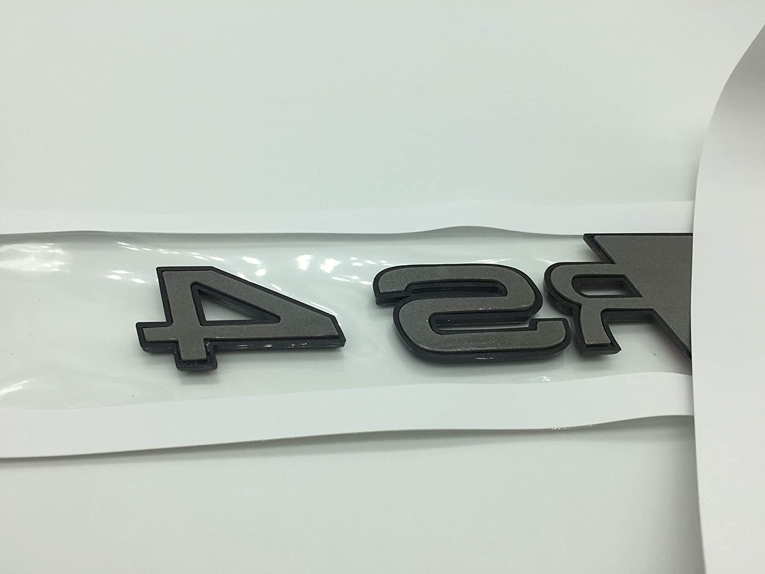 RS3 OEM ABS Nameplate compatible for Audi RS 3 4 5 6 7 8 Rs3 RS4 Rs5 Rs6 Rs7 Rs8 Gloss Black Emblem 3D Trunk Logo Badge Compact