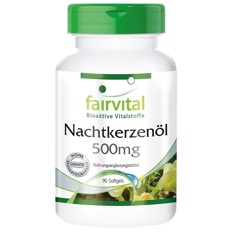 Aceite de Onagra 500mg - durante 45 días - ALTA DOSIS - 90 cápsulas blandas - rico en GLA: Amazon.es: Salud y cuidado personal
