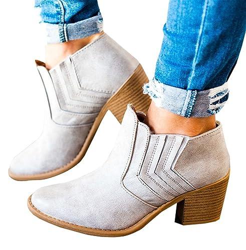 Mine Tom Minetom Botas Zapatillas Moda Tejiendo Botines Mocasines Chelsea Boots Mujer Tacón Altos: Amazon.es: Zapatos y complementos