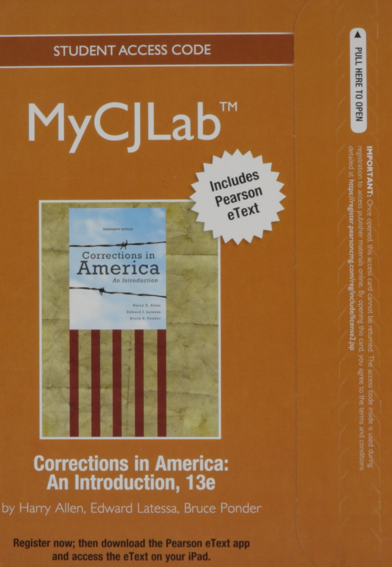 NEW MyCJLab with Pearson eText -- Access Card -- for Corrections in America: An Introduction pdf epub
