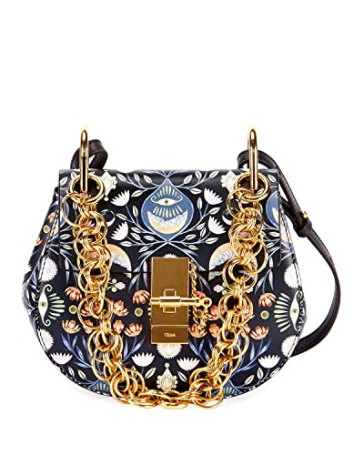 chloe mini drew bijou shoulder bag full blue bird evil eye new