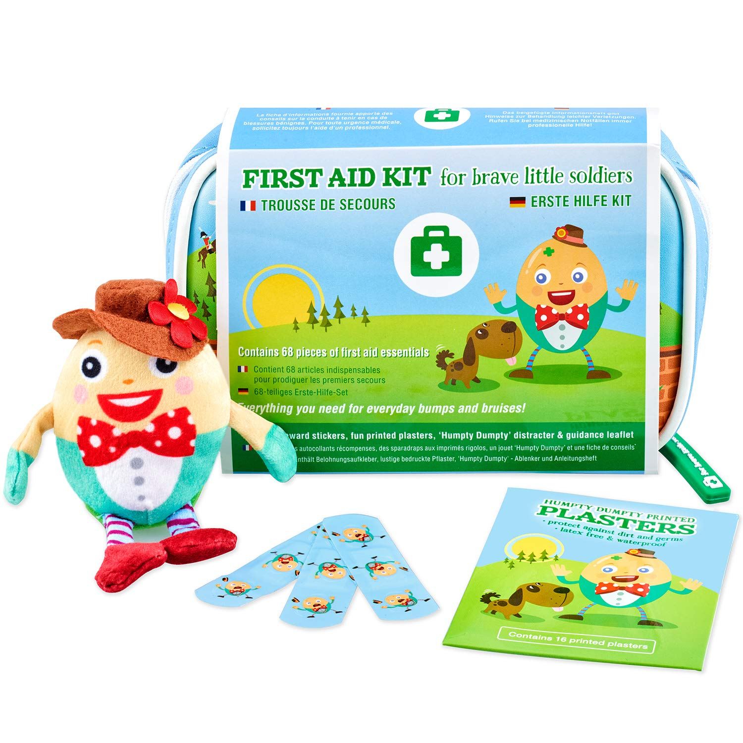 Yellodoor Baby First Aid, 68 Piece Kit of Essential Medical Supplies for Kids