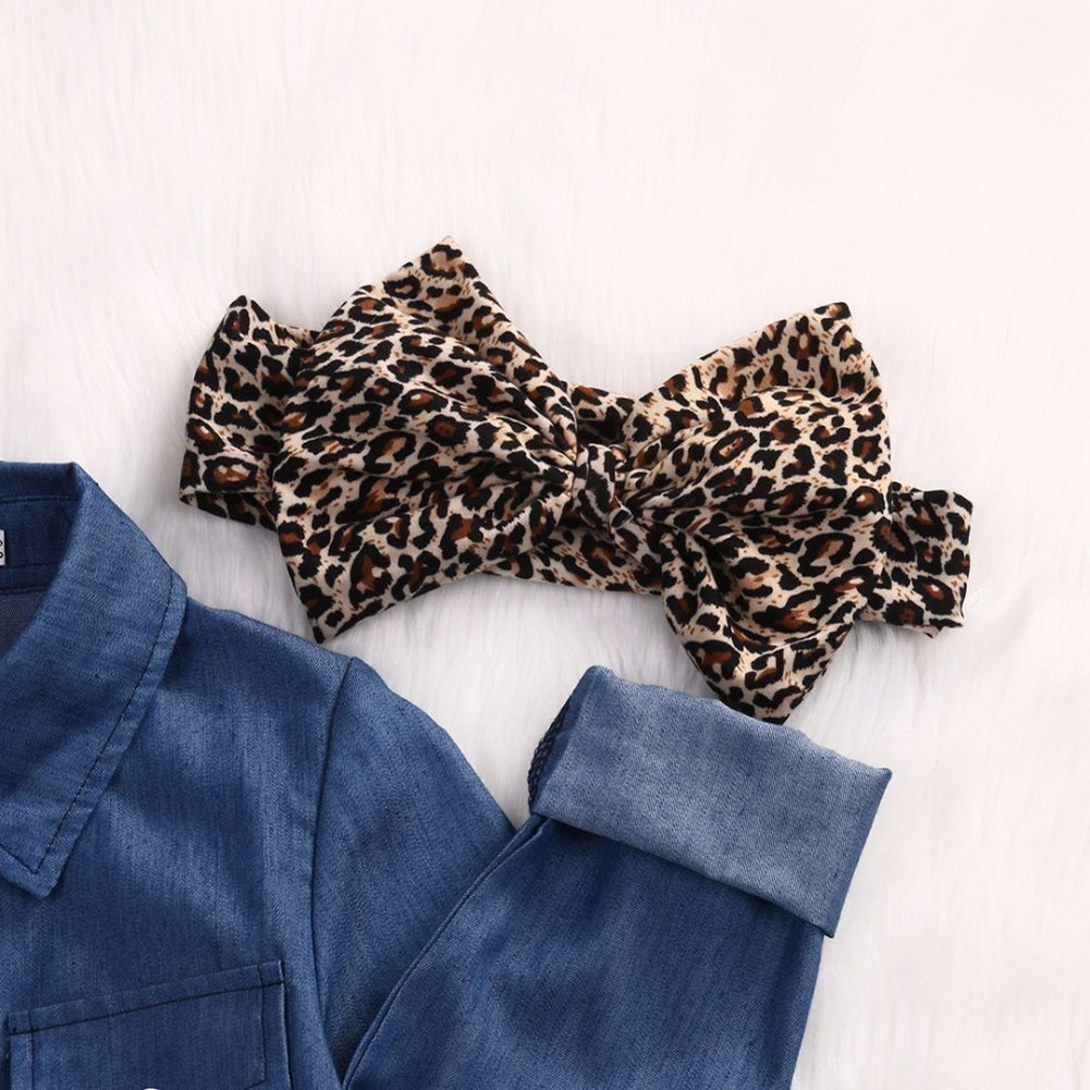 0-5 Anni Fascia Cappelli Magliette di Jeans Gonne ARAUS Completini da Neonata Bimba Abiti Coordinati Manica Corta 3 Pezzi