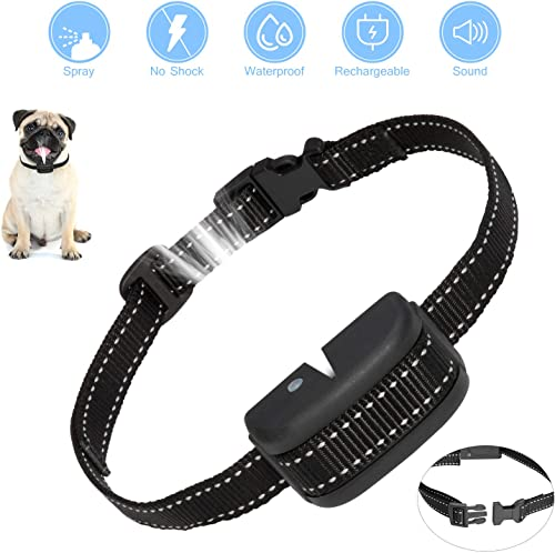 Balight Dog Bark Collar – Dog Training Collar Rechargeable No Shock Spray Bark Collar for Small Medium Dogs Recommend 8-70lbs, Harmless Humane