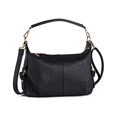 9333fc918c9b Amazon.com  Shoulder Purse for Women PU Leather Small Hobo Handbag Top  Handle Bag Crossbody Black + Katloo Nail Clipper  Shoes