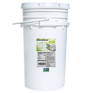 Milliard Citric Acid 50 Pound PAIL - 100% Pure Food Grade NON-GMO Project VERIFIED (50 Pound)