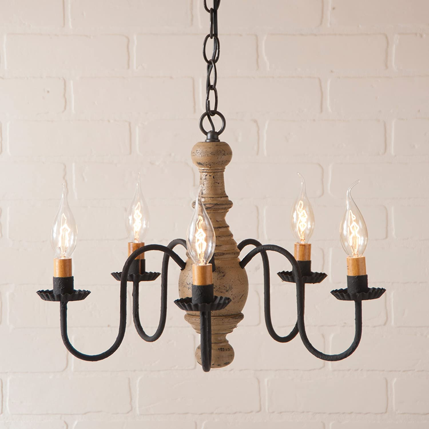 Irvins country tinware lancaster chandelier in pearwood amazon com