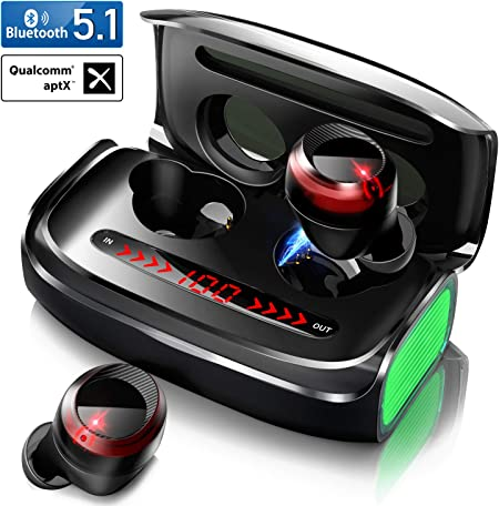 【最新Bluetooth5.1技術 QualcommR aptX?】 Bluetooth イヤホン