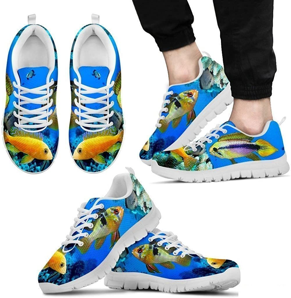Luto Home Dwarf Cichlid Fishes Running Shoes for Men-Casual Comfortable Sneakers Running Shoes