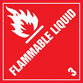 Amazon.Com : Ace Label Preprinted Flammable Liquid Shipping Label