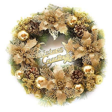 Kentop Guirnalda de Navidad Decoracion Exquisito Colgante Adornos para Decoracion de Escena Y Ventana,30CM: Amazon.es: Hogar