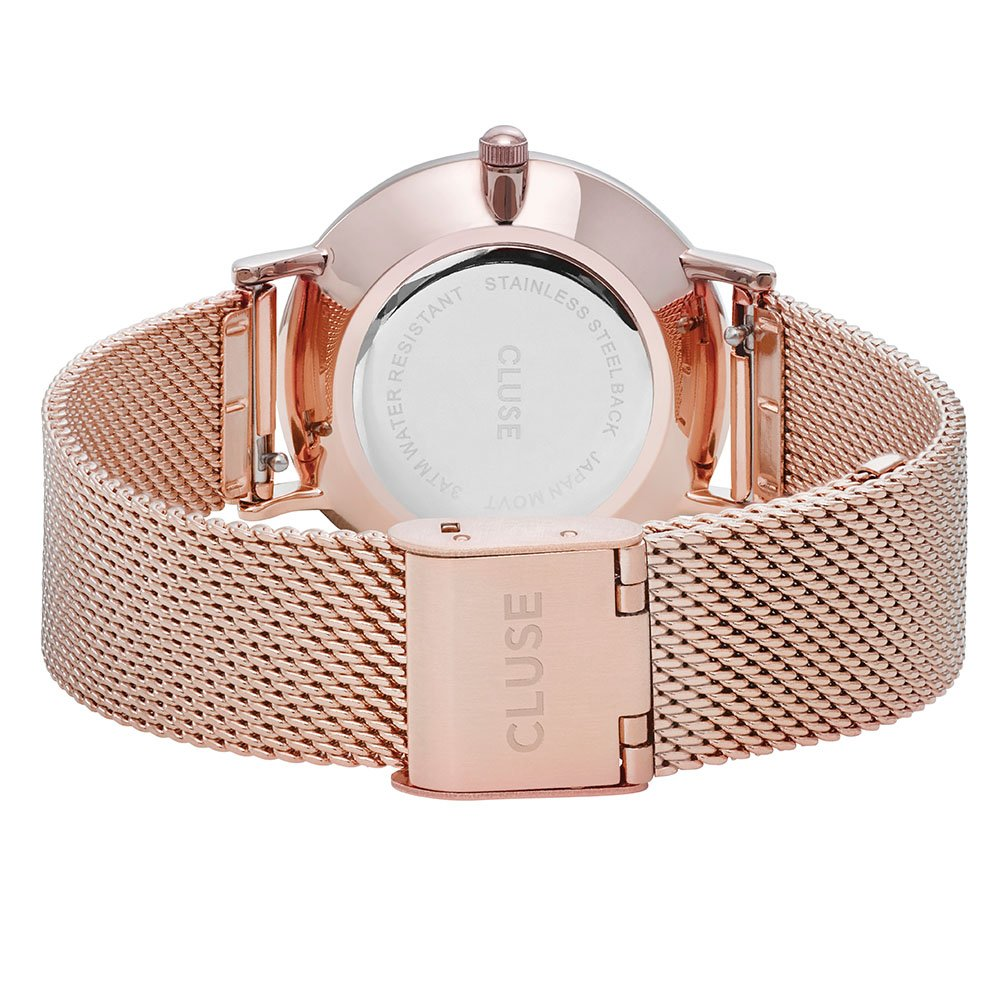 CLUSE Reloj Analógico para Mujer de Cuarzo con Correa en Acero Inoxidable CLG013: Amazon.es: Relojes