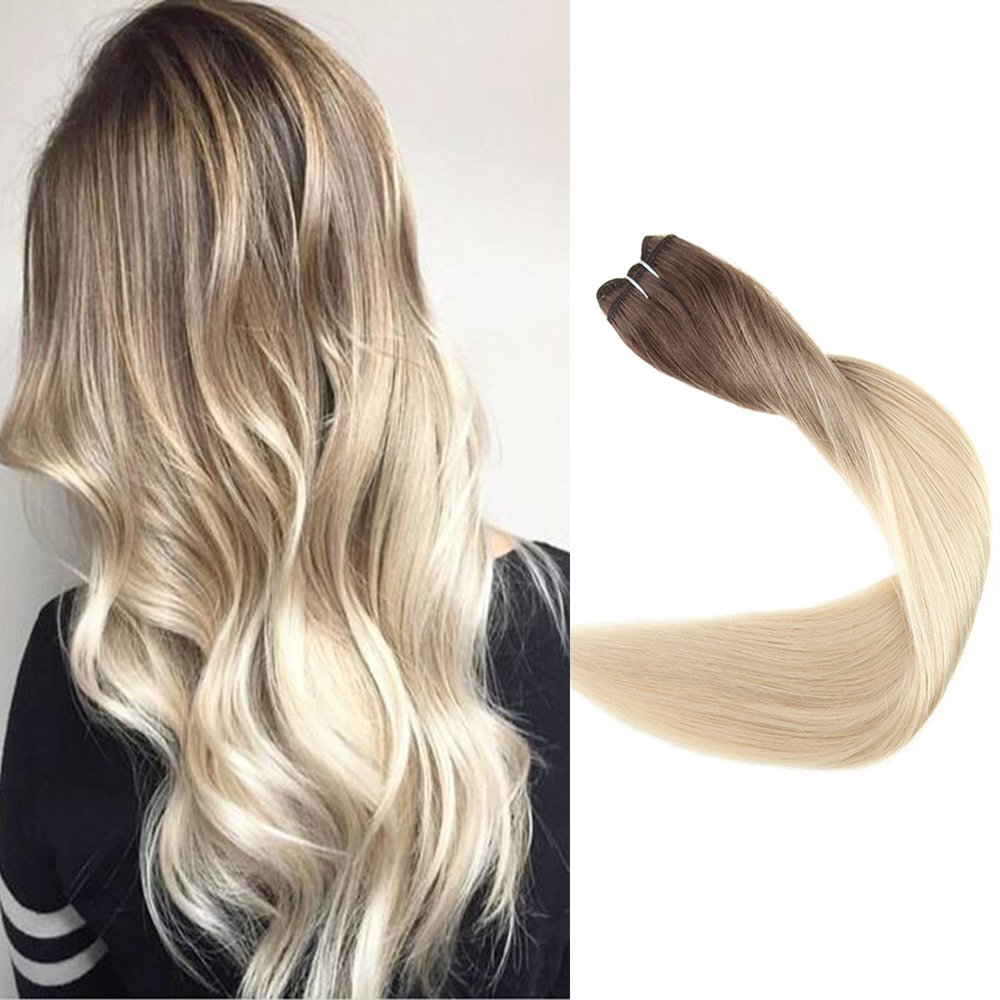 Amazon Full Shine 16 Inch Ombre Hair Weft Extensions Full Head