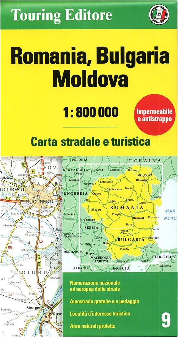 Cartina Dettagliata Romania.Amazon It Romania Bulgaria Moldavia 1 800 000 Carta Stradale E Turistica Touring Libri