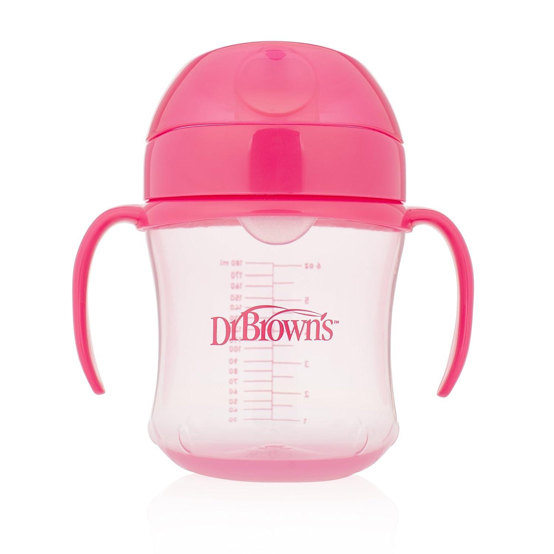 Dr Brown 's suave boquilla Copa infantil con asas, color rosa Central Medical Supplies Ltd TC61003