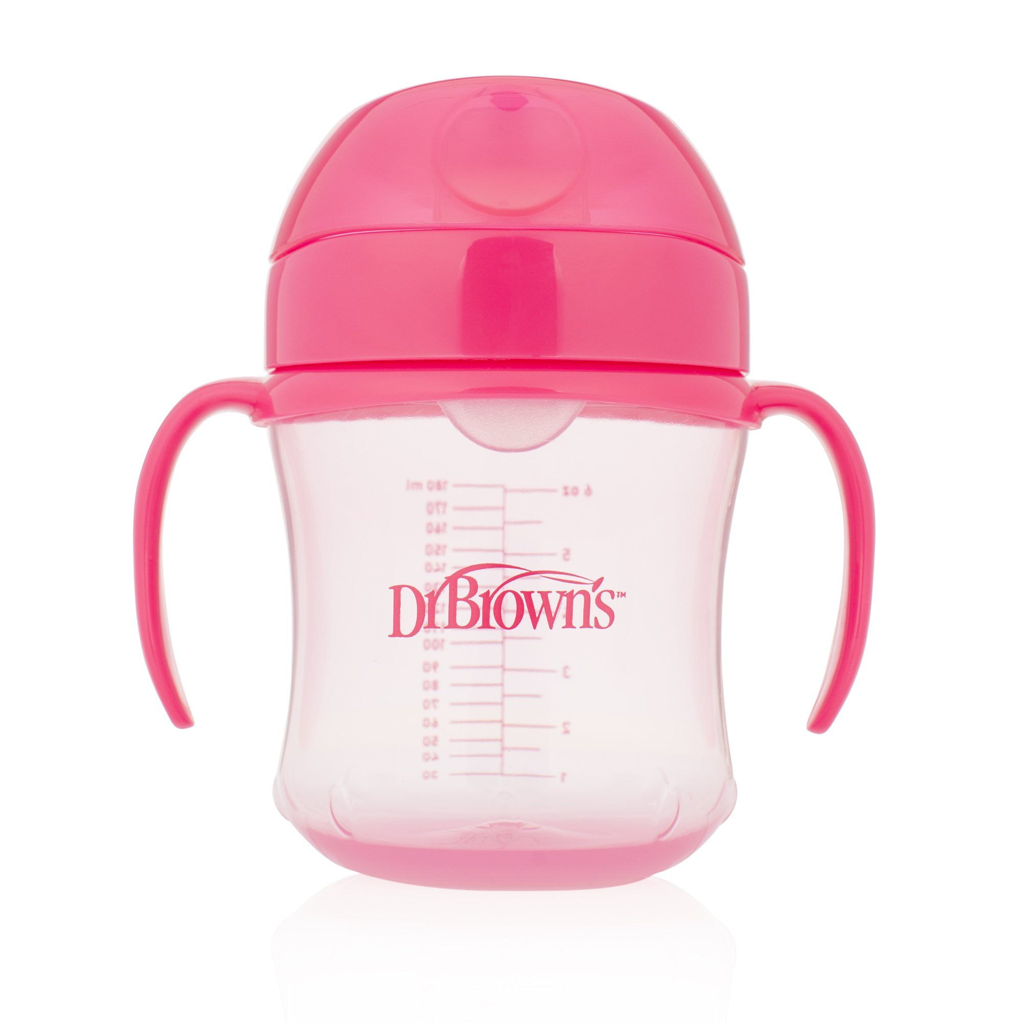 Dr. Brown's Soft-Spout Transition Cup, 6 oz (6m+), Pink, Single