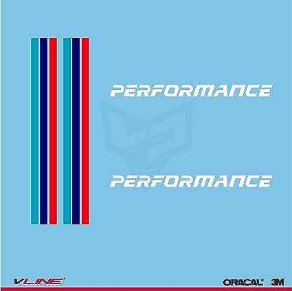 Provinyl Pegatinas Performance Compatible para BMW, 2 Unidades, una para Cada retrovisor del Coche (Blanco): Amazon.es: Coche y moto