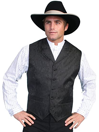Men's Steampunk Vests, Waistcoats, Corsets Paisley Button Vest  AT vintagedancer.com