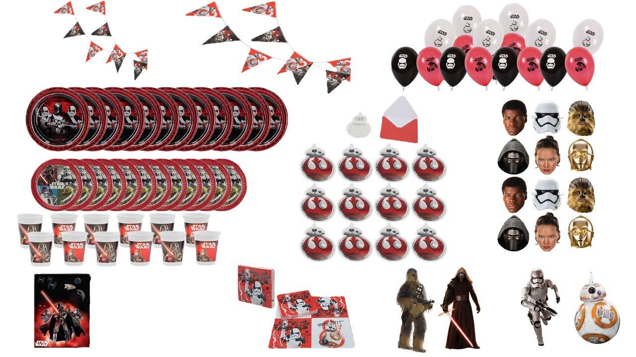 ALMACENESADAN 1009, Pack Fiesta y cumpleaños Star Wars, 12 ...