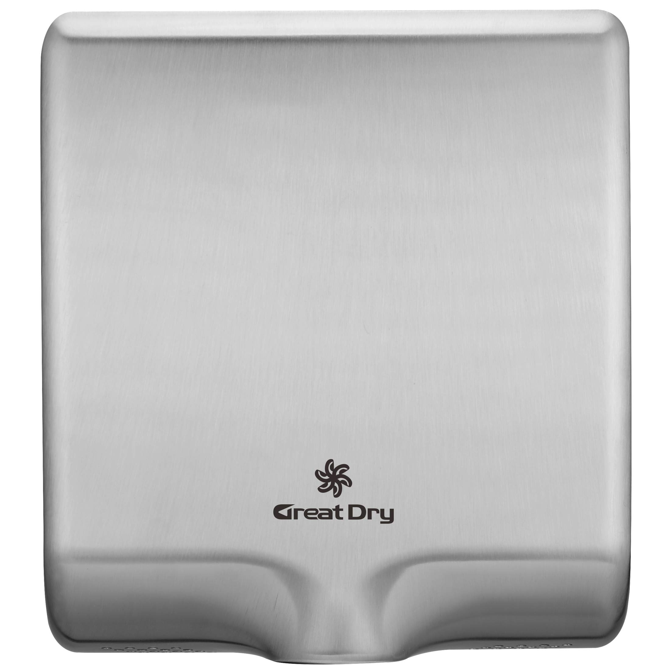 Great Dry Super Slim Commercial Automatic Air Hand Dryer High Speed Heavy Duty 1000W Industrial Hands Dryer Stainless Steel Shell, Low Noise, Easy Installation (Brushed Stainless Steel) by Great Dry