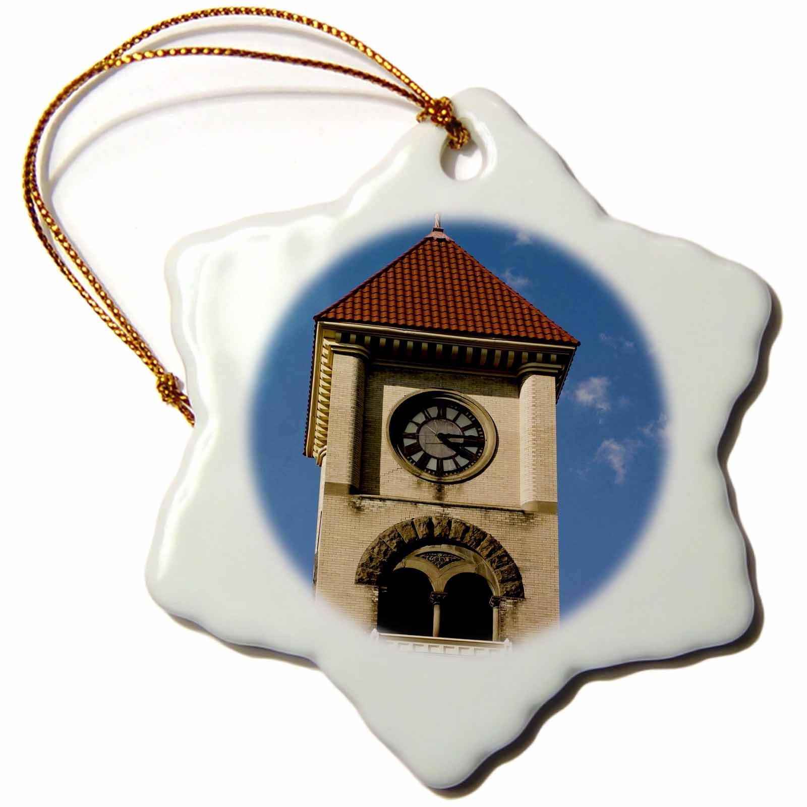 3dRose orn_148413_1 Whitman College, Walla Walla, Washington State, Usa-Us48 Nwh0004-Nik Wheeler-Snowflake Ornament, 3-Inch, Porcelain