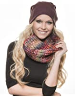Distressed multicolor Circle Scarf Schlauchschal