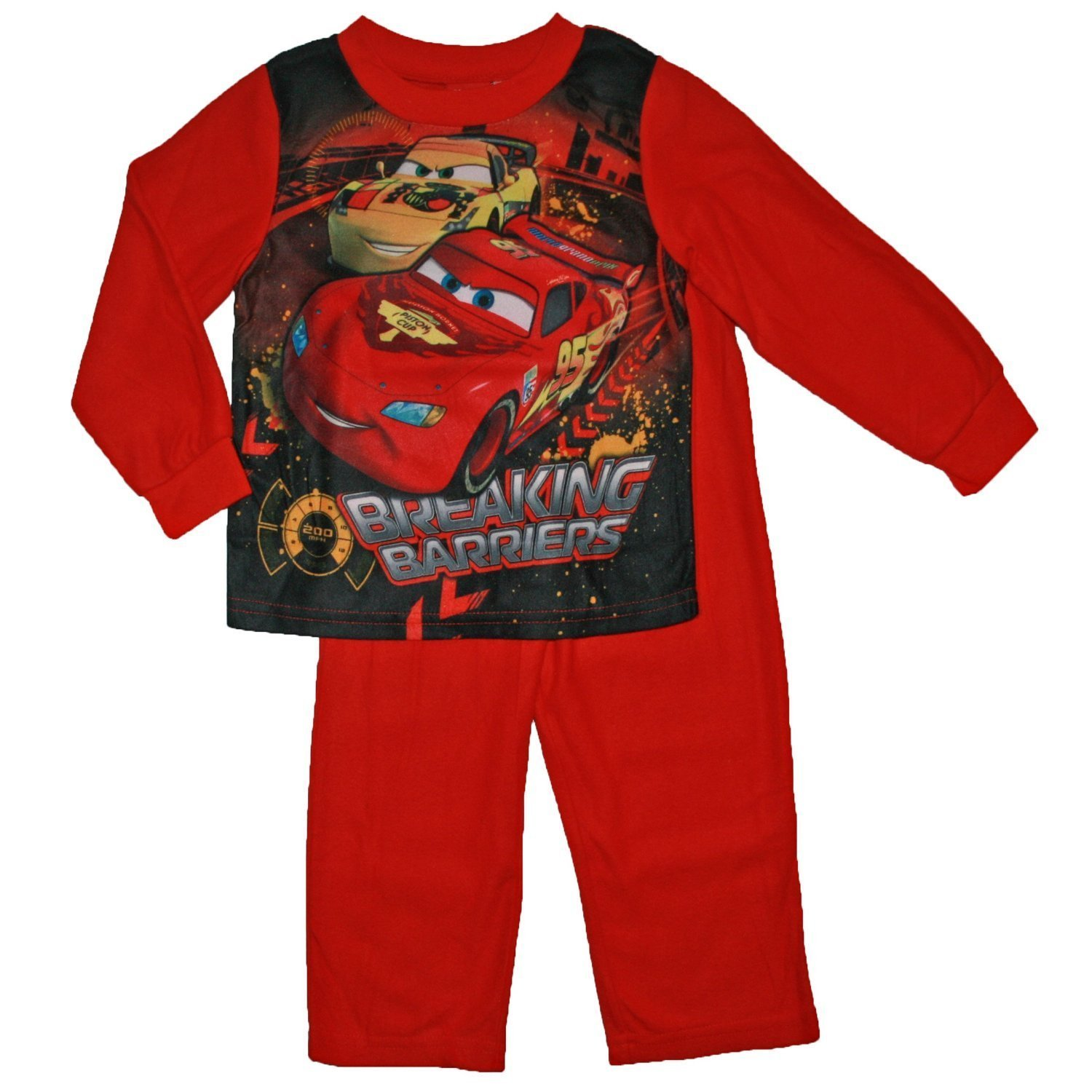 57f3425a5 Amazon.com  Cars Baby-Boys Infant Lightning Mcqueen Flannel Pajamas ...