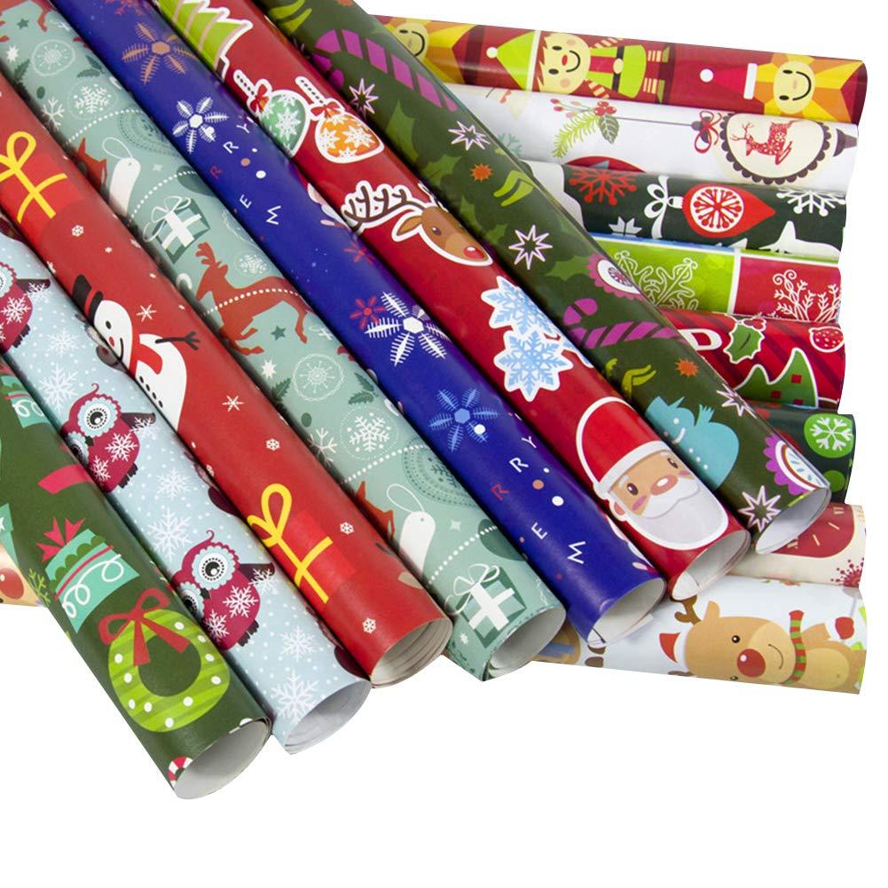 Amazon.de: NiceButy 10 Stück von Weihnachten Geschenkpapier ...